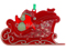 Front View LED Flashing Santa Sleigh Ornament
