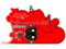 Backside View Printed Circuit Board Sleigh Ornament