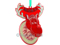 Front View Flashing LED Rudulph Reindeer Ornament