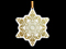 Front View Circuit Borard Design Snowflake Christmas Ornament