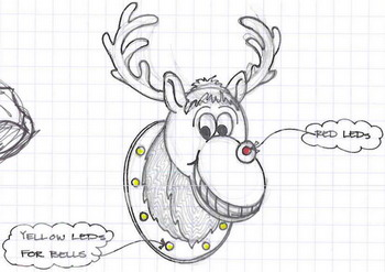 Concept drawing of reindeer