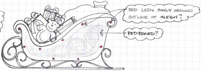 Designing The Penguin Sleigh Ornament